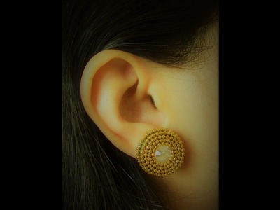 How to Make Quilling Stud Earrings.Design 18.Tutorial
