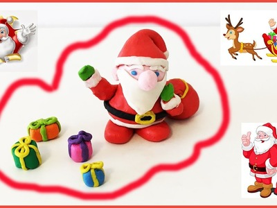 How To Make Santa Claus ????????????Out of Play-Doh. Clay! Happy Christmas ! !