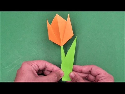 How to make simple & easy paper tulip flower | DIY Paper Craft Ideas, Videos & Tutorials.