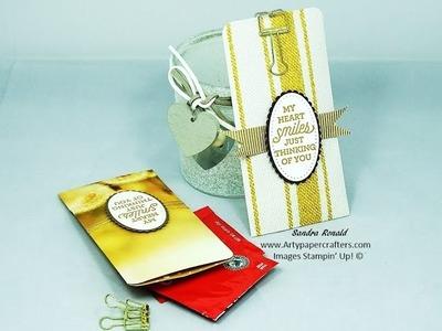 HOW TO MAKE SOME TEA BAG SACHETS - SandraR UK Stampin' Up! Demonstrator Independent