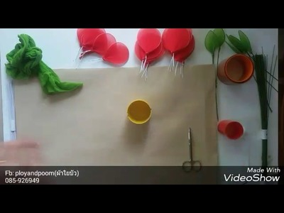 How to make stocking flowers ( rose) ployandpoom