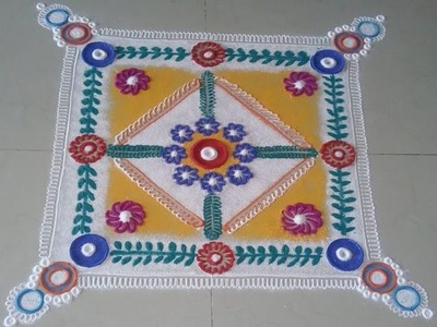 How to make Super easy ,Beauitiful & Innovative Rangoli Designs.
