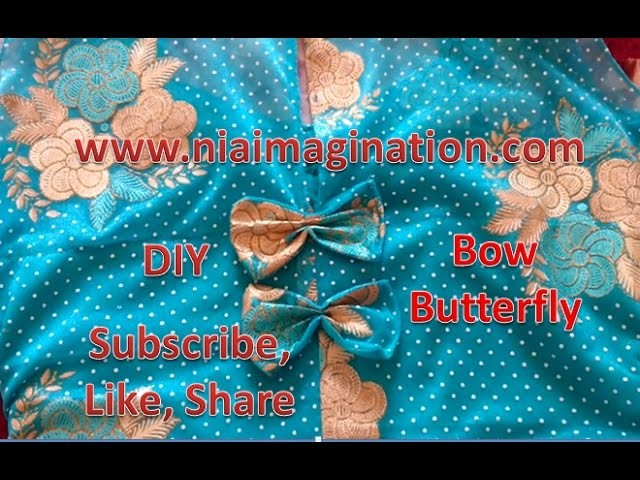 How to stitch Butterfly bow easy DIY