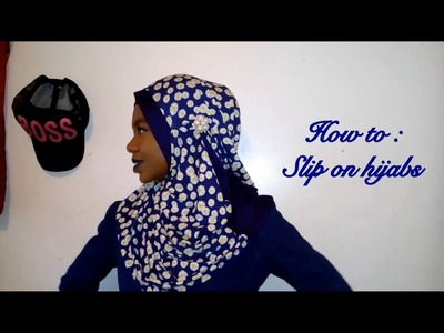 How to wear a slip on hijab