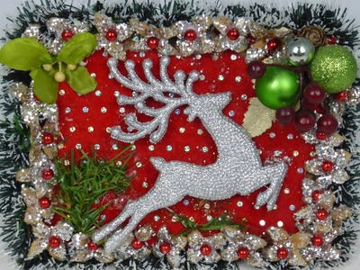 Lovely Christmas Wall hanging. Very Easy to make.