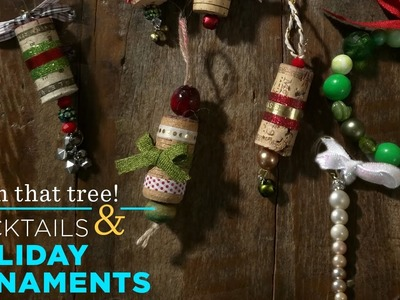 Making Christmas Ornaments | Cocktails & Creativity