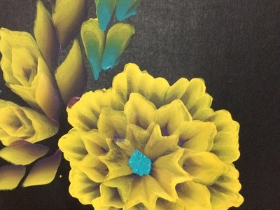 One Stroke Painting- Adding 3d look to a double layered flower