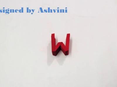 Origami Letter 'W' by Ashvini