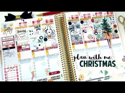 Plan with Me: Christmas Spread! ft. Crafts by Thaowie | 25 Spreads of Christmas