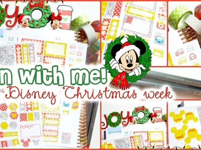 Plan with Me! Dec 12-18 A Disney Christmas Spread in my Erin Condren Life Planner