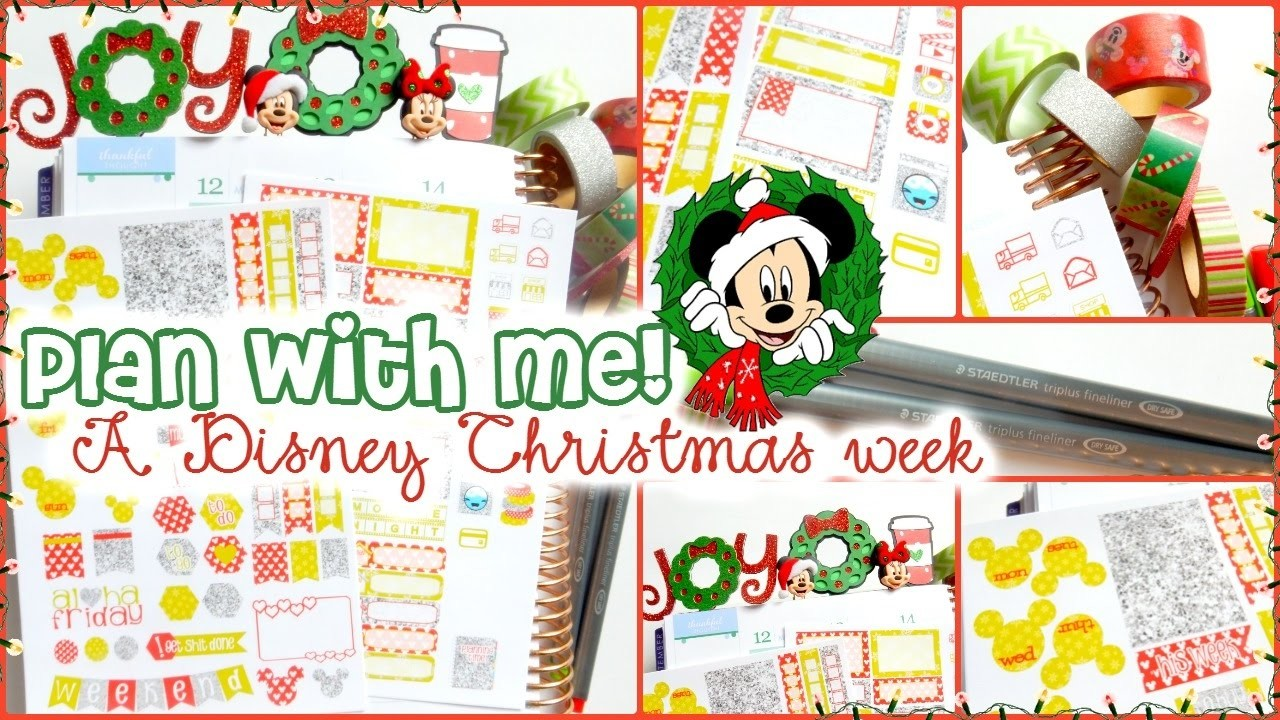 Plan with Me! Dec 12-18 A Disney Christmas Spread in my Erin Condren Life Planner