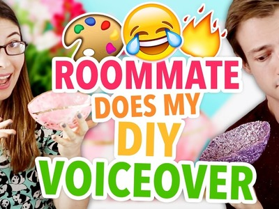 ROOMMATE DOES MY DIY VOICEOVER ~ DIY Glitter Bowls + GIVEAWAY! | @karenkavett