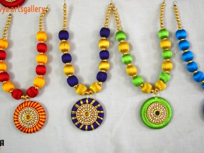 Silk Thread Jewellery   Little girl necklace   How to make tutorial update soon