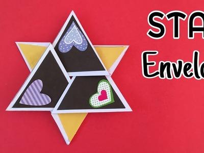 STAR Envelope card - DIY Tutorial by Paper Folds ❤️