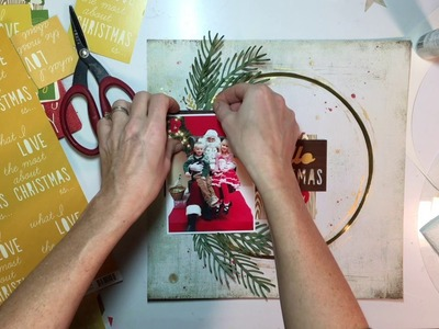 "'Tis the Season Day 5- Scrapbooking Process #51- ""Hello Father Christmas"""
