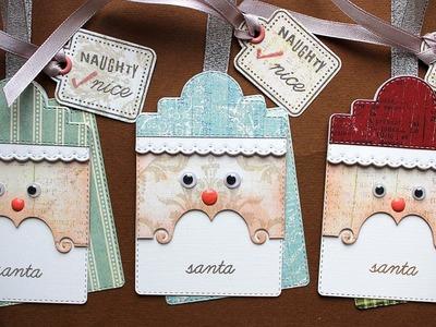 WHITE CHRISTMAS - DAY 23 - Last Minute Santa Tags