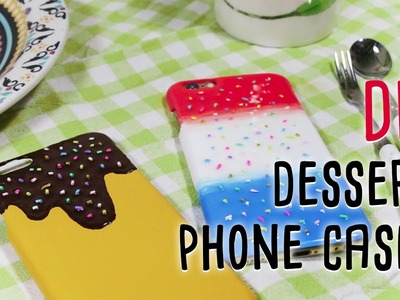 DIY dessert phone cases with acrylic color