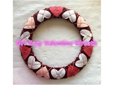 DIY Easy Valentine Wreath for under $5