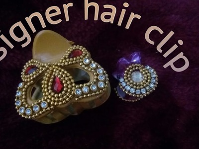 DIY:: how to make a normal hair clip into designer