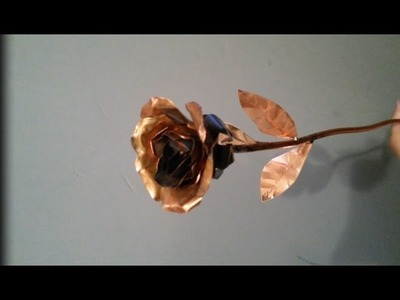 [DIY] How to make roses from copper plate. GREAT GIFT!