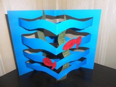 DIY Paper Aquarium for Kids. Easy Paper Craft Ideas for Kids