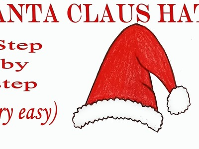 How to draw Santa claus hat step by step ( very easy)