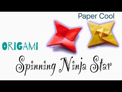 Origami Spinning Ninja Star Tutorial ★DIY★Paper CooI