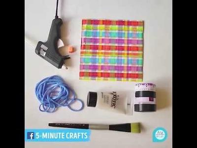5 Minute Crafts - Wonderful DIY cardboard desk organizer