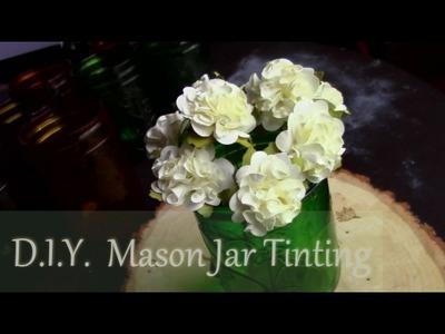D.I.Y. Mason Jar Tinting & GENDER reveal