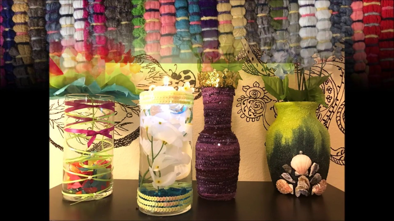 Diy easy flower vase decorations part 4 my crafts and diy projects Diy home decor flower vase