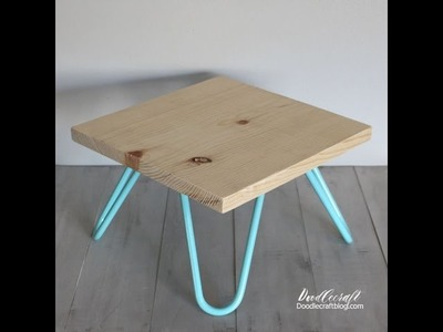 DIY Hairpin Legs Six inch Turquoise powder coated legs Cake Stand