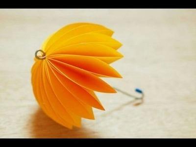 DIY Paper crafts for Kids - How to Make Beautiful Umbrella + Tutorial .