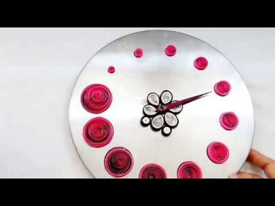 DIY||Room Decoration Ideas||Wall Clock Decoration With PAPER STRIPES
