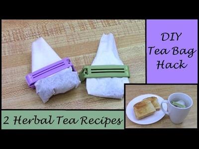 DIY Tea Bag HACK  (How to Make Your Own Tea Bags & 2 of My Favorite Recipes)