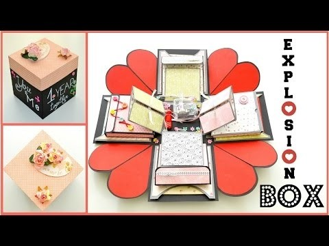 Wedding Gift Card Box Tutorial : ... Box Card - Paper Crafts - Valentines Day Handmade Gift - Scrapbooking