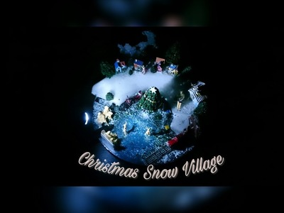 How I made my Christmas Snow Village