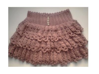 How to Crochet ruffle skirt - video 2