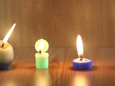 How to Make 5 Amazing  Emergency Candles - Life Hacks You Should Know!