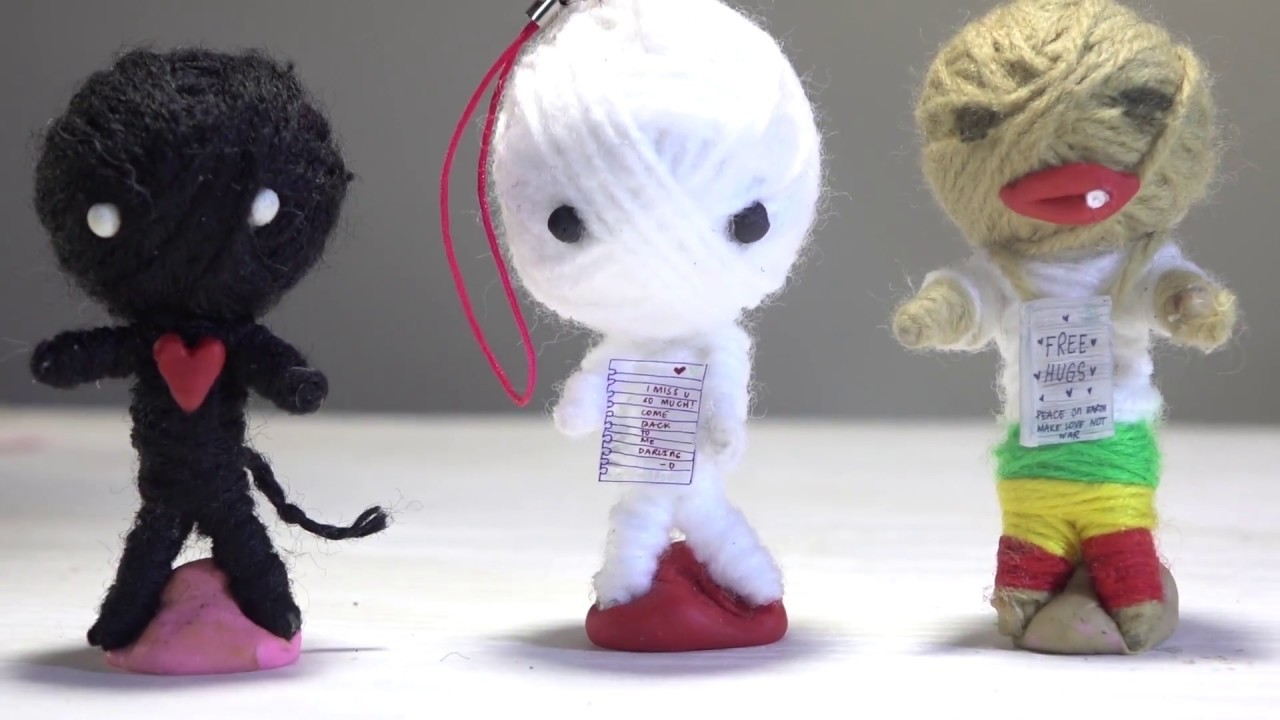 How to make CUTE VOODOO DOLL ☠