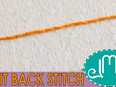 HOW TO: Split Back Stitch for Hand Embroidery