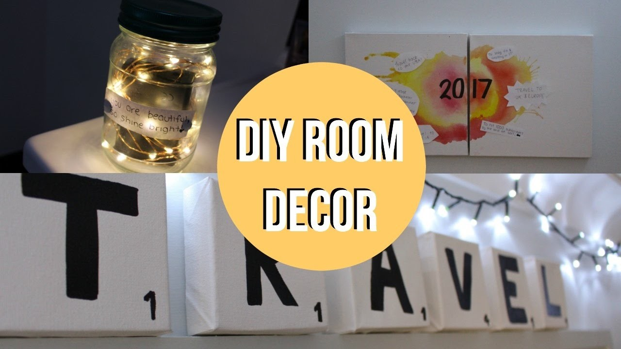 New years motivational travel inspired diy room decor for Room decor nim c