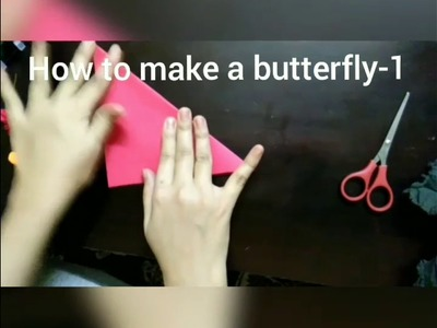 Paper art- How to make a butterfly-1