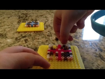 Perler beads  how to make portal cubes companion, storage, laser, and ball