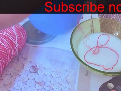 Ball making for decoration, school project from thread & balloon DIY