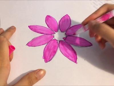 Creative Idea : How to make a Kanzashi Flower