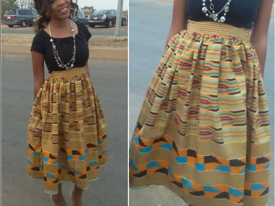 DIY: How to make a gathered skirt