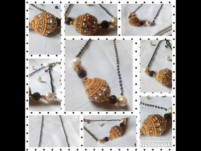 DIY Mangal Sutra   Quilling   Black Beads Chain  - ❤️ Rajee Art ❤️
