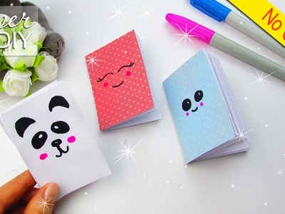 DIY MINI NOTEPADS NO SEW NO GLUE | KAWAII