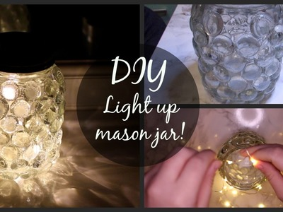 DIY Room Decor! | Quick and easy light up mason jar!
