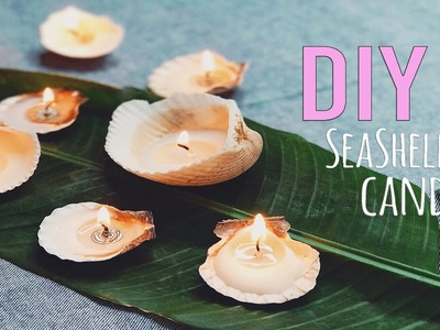 DIY Sea Shell Candles. Easy and Adorable. LiveEatStyle